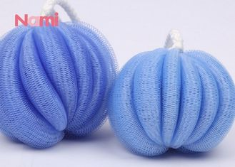 Cosy Shower Exfoliating Puff , Satin Ribbon Exfoliating Mesh Sponge